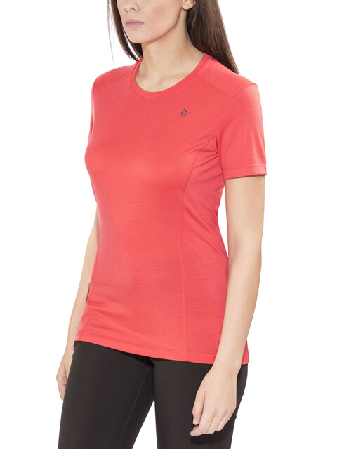 Norrøna Wool T-Shirt Women Crisp Ruby